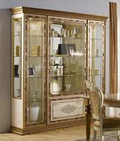 Шкаф-витрина 4-х дверный Палермо Италия беж