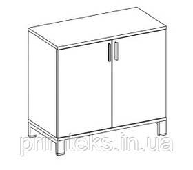 Шкаф низкий закрытый двухцветный Trio/ Quattro 800*400*750h