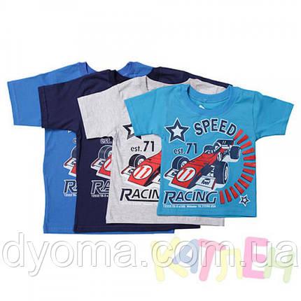 """Детская футболка """"Гонки"""" для мальчиков, фото 2"""