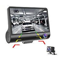 Видеорегистратор на 3 камеры + Видео парковка. Экран 4,0 Модель 4TDR