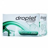 Иглы для инсулиновых шприц-ручек Droplet 10 мм х 29G, 10 шт.