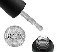 Гель-лак Boho Chic ВС 126 серебро с блестками, 6 мл