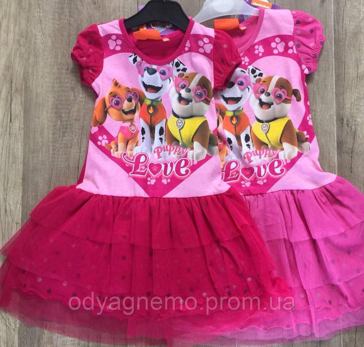 Платье для девочек Paw Patrol оптом, 3-8 лет.