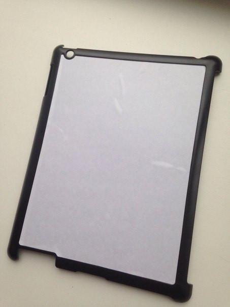 Чехол для 2D сублимации на планшете Ipad 2,3 черный пластиковый