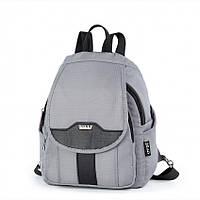Рюкзак маленький серый женский городской молодежный с карманами Dolly 377