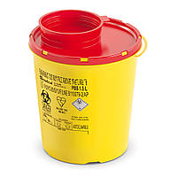 Одноразовый круглый контейнер для утилизации DISPO желто-красный 1,5 л