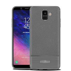 Чехол накладка для Samsung Galaxy A6 2018 A600 силиконовый, Armor, серый
