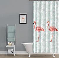 Шторка в ванную Flamingos