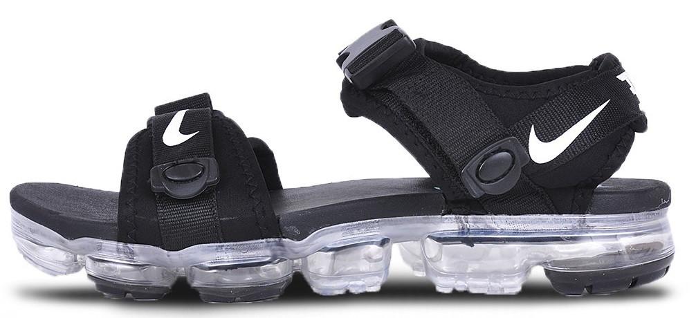 57b2dfe8 Мужские сандалии Nike Air VaporMax Sandals Black (Найк Аир Вапор Макс  сандалии, черные)