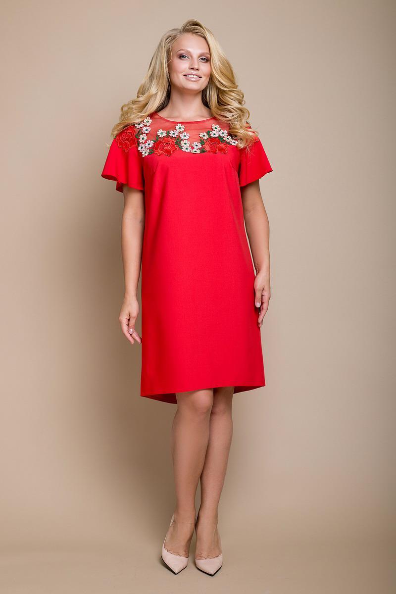 Платье большого размера Марта цветы e3901f31c3513