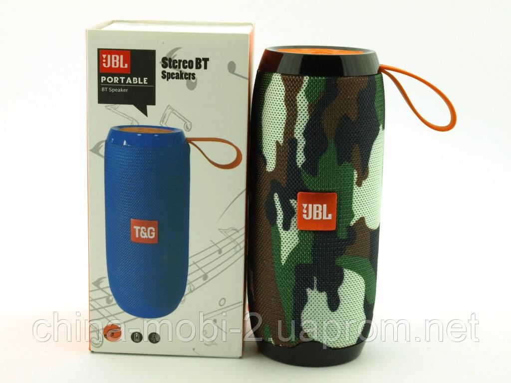 JBL TG106 t&g 10W Squad копия, портативная колонка с Bluetooth FM и MP3, камуфляжная