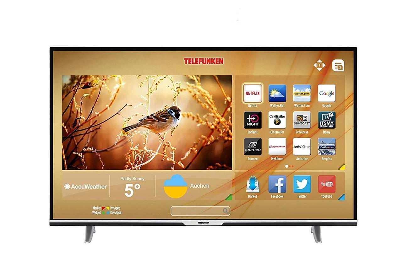 Телевизор Telefunken XU55D401 (55 дюймов, Ultra HD, 4K, Smart TV, WLAN, HDMI)