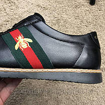 Gucci Falacer Sneaker Web with Bee Black реплика, фото 2