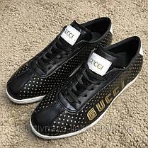 Gucci Falacer Sneaker Golden Stars Black реплика, фото 2