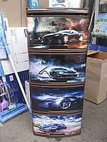 Пластиковый детский комод авто 4