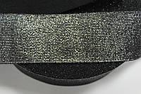 Резинка декоративная 50мм, (25м) черный+серебро, фото 1