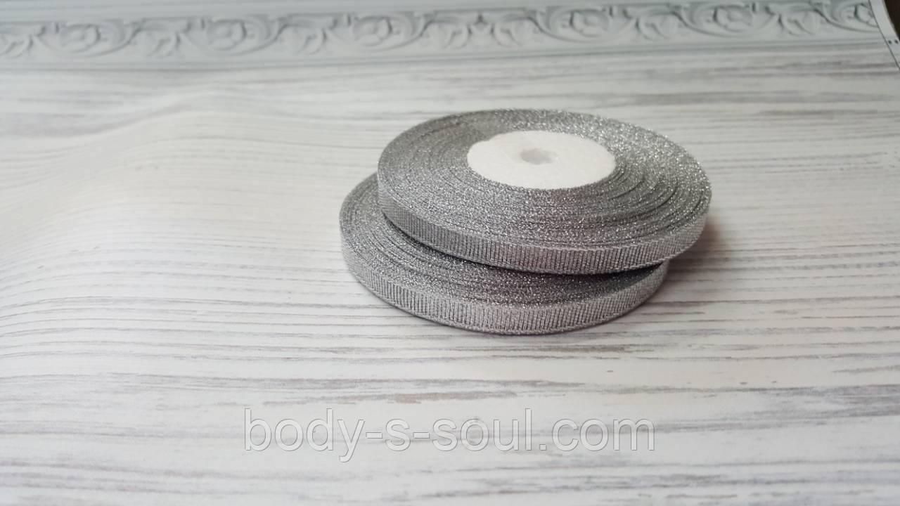 Лента парча серебро 0,6 мм, 25 ярдов
