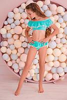Купальник детский топ+плавки рюш бифлекс для девочки размер: 122,128,134,140,146 см