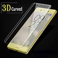 Закаленное защитное 3D стекло (на весь экран) для Sony Xperia XA2  (Прозрачное)