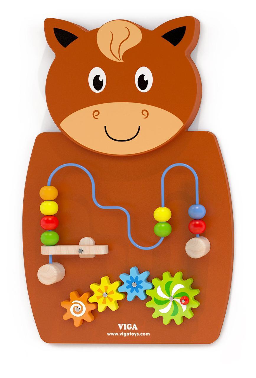 Игрушка настенная бизиборд Лошадь с лабиринтом Viga toys (50678)