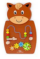 Игрушка настенная бизиборд Лошадь с лабиринтом Viga toys (50678), фото 1