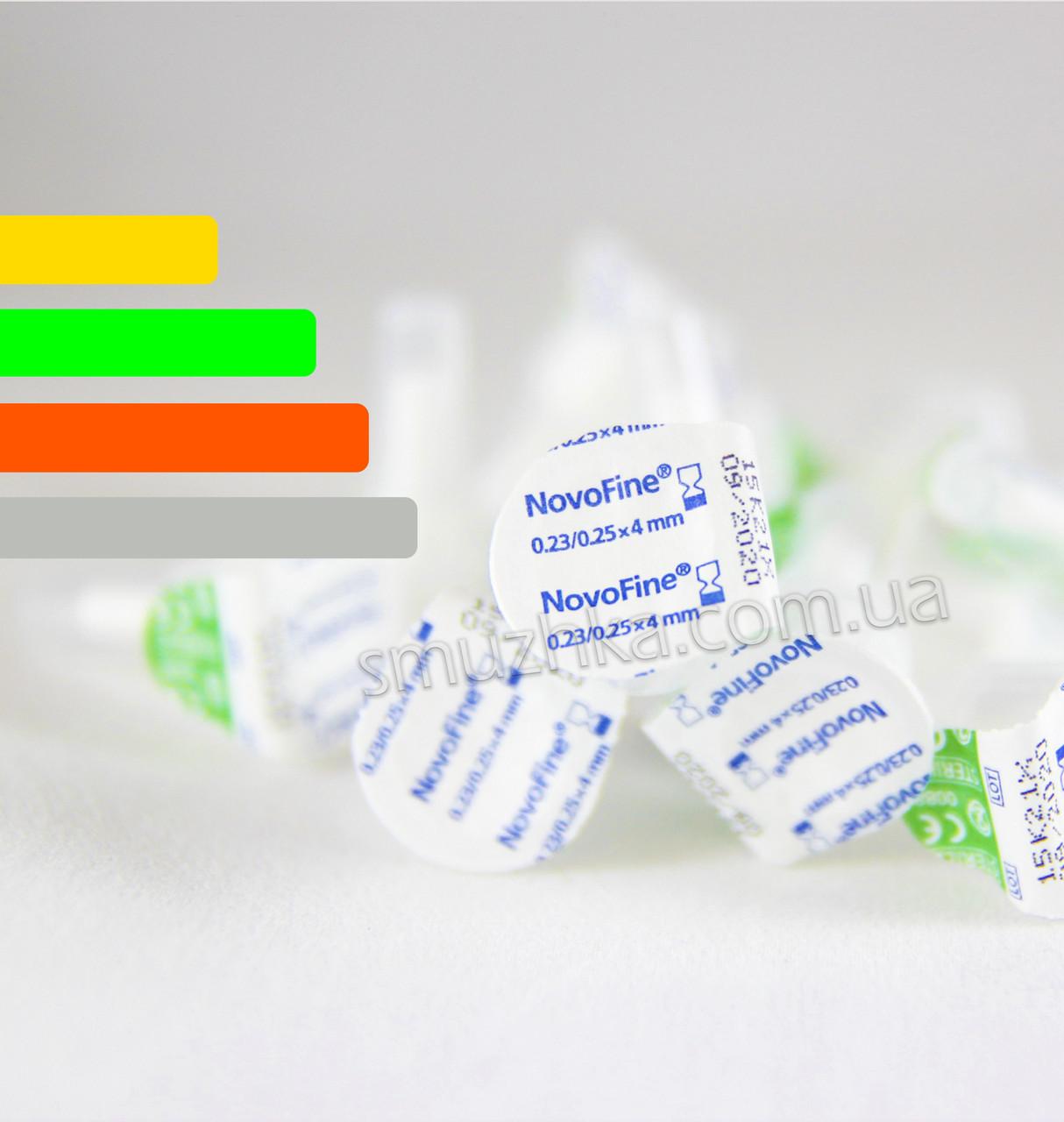 Иглы для инсулиновых шприц-ручек Новофайн 4 мм - Novofine 32G, Поштучно