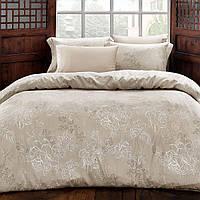 Комплект постельного белья Tivolyo Home из жатого шелка евро размера Lara(bej), фото 1