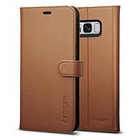 Книжка-Чехол Spigen для Samsung S8 Wallet S, Brown