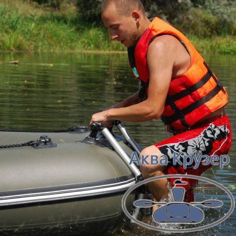 купити трап для човни пвх - сходи для купання на човен - Сходи складна FASTEN Borika з алюмінієвої труби Ø 32