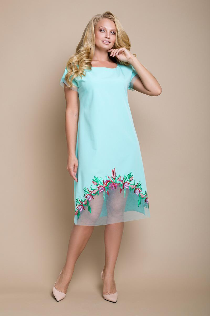 31a95d3117f3ab Платье большого размера Фелида, (2цв), платье батал, плаття великого  розміру -