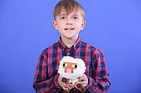Мягкая игрушка овечка Майнкрафт овца (minecraft) 13 см, фото 1