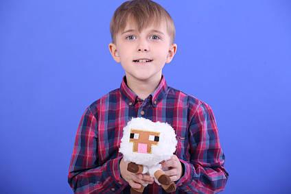 М'яка іграшка овечка Майнкрафт вівця (minecraft) 13 см