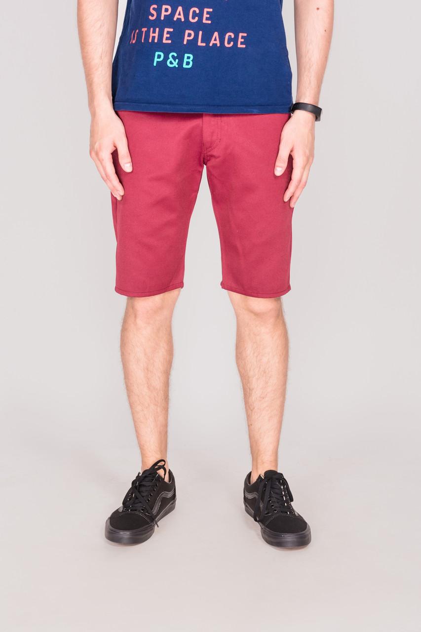 Мужские шорты чинос Outfits - Сlassic Burgundy бордовые (чоловічі шорти)