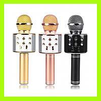 Беспроводной мини-портативный WS-858 Karaoke Микрофон Bluetooth USB-динамик!Опт, фото 1
