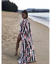 Накидка пляжна халат парео шовк армані пляжна туніка розміри:42-46