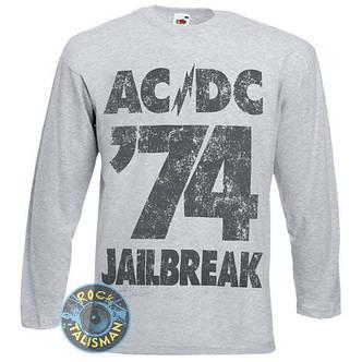 Футболка длинный рукав AC/DC 74 Jailbreak меланжевая, фото 2