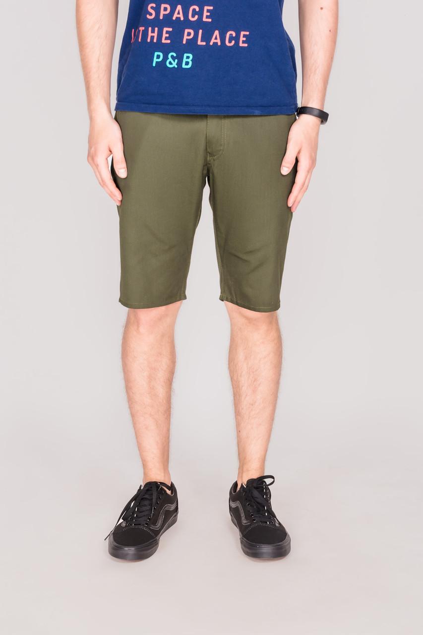 Мужские шорты чинос Outfits - Сlassic Khaki зеленые (чоловічі шорти)