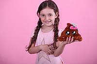 Мягкая игрушка Смайлик emoji Мисс какашка 16 см Эмоджи, фото 1