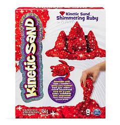 Песок для детского творчества - KINETIC SAND METALLIC (красный, 454 г)