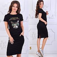 Летний трикотажный костюм футболка и юбка Gucci 31f323903f6fb