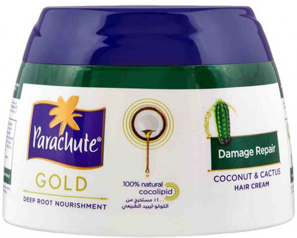 Кокосовий крем для пошкодженого волосся Parachute Gold з екстрактом кактуса 140 мл