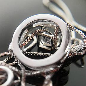 """Срібне кольє Kigmay Jewelry """"Коло з цирконом"""", фото 2"""