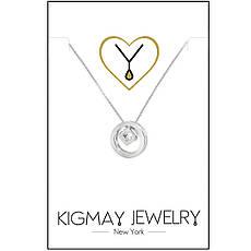 """Срібне кольє Kigmay Jewelry """"Коло з цирконом"""", фото 3"""