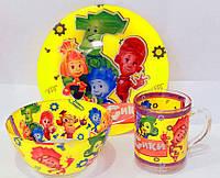 Набор детской посуды Фиксики 3в1