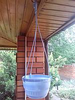 Кашпо с подвесом диаметр 15 см