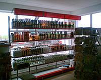 Стеллажи для магазина при АЗС. Металлические стеллажи для минимаркета. Торговый стеллаж ВИКО