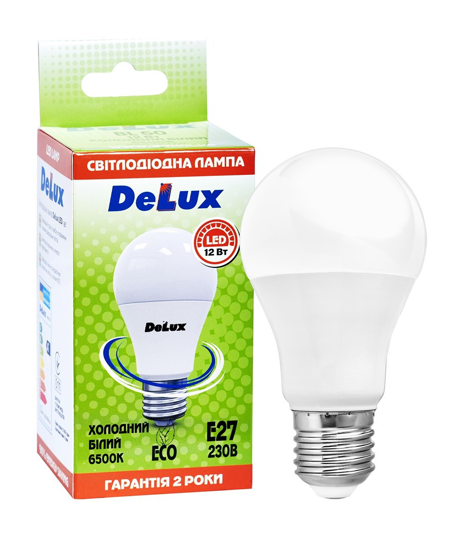 Светодиодная лампа DELUX BL 60 12Вт 6500K 220В E27