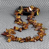 Янтарь самородки полированные, бусы, 434БСЯ