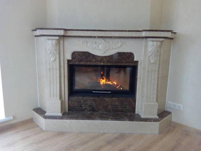 Камин с дымоходом под ключ дымоход для газового котла в частном доме в стене