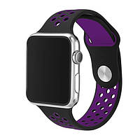 Ремешок ArmorStandart Sports для смарт-часов Apple Watch 42mm Black-Purple, фото 1